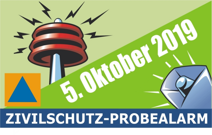 Zivilschutz-Probealarm am 5. Oktober 2019