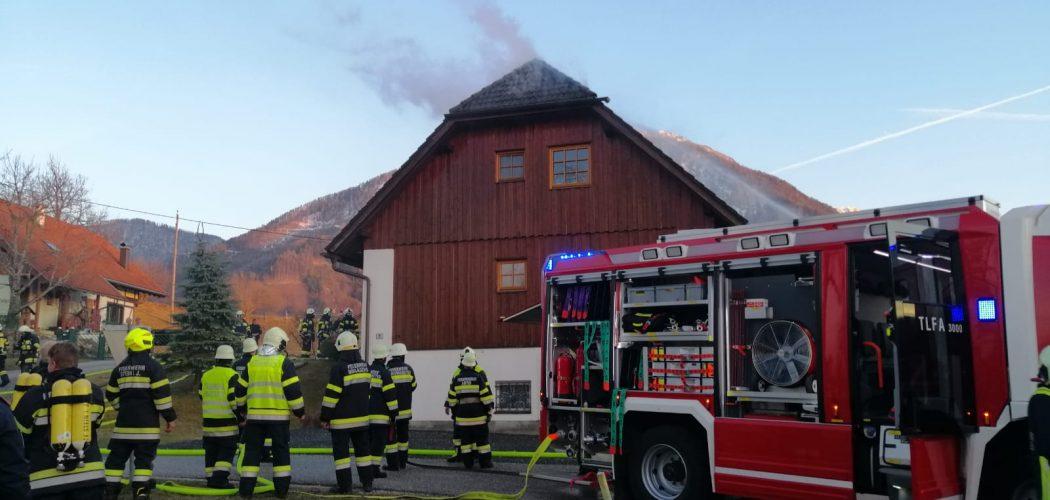 Dachstuhlbrand in Abtei