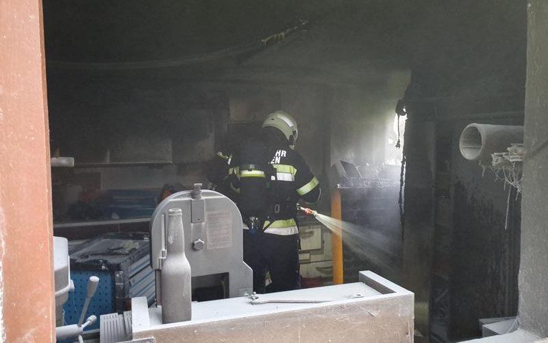 Garagenbrand in Möchling