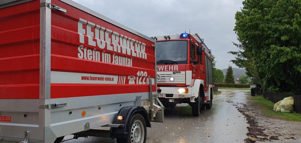 Unwetter in Vesielach